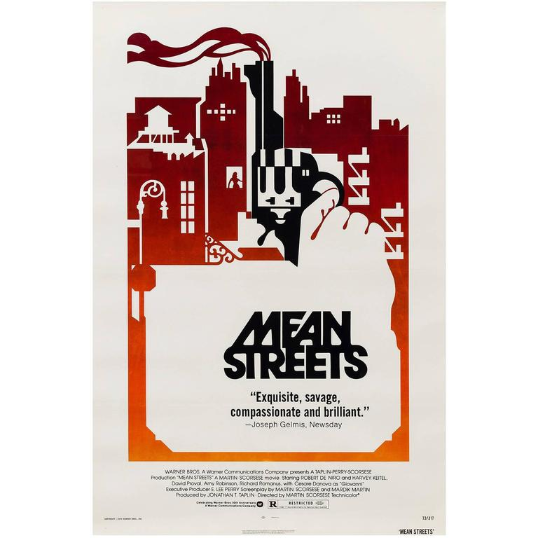 Mean Streets Original American Film Poster, 1973