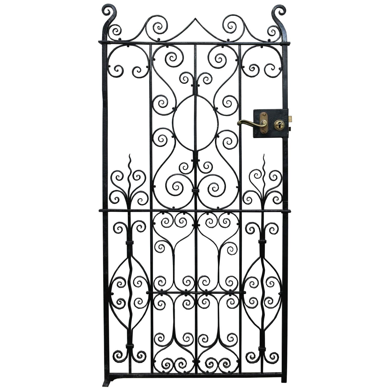 - Antique Wrought Iron Side Gate At 1stdibs
