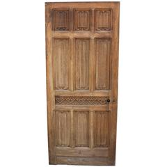 18th Century Carved Linen Fold Oak Door