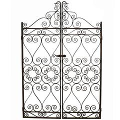 Pair of Early 20th Century Wrought Iron Pedestrian Gates