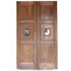 Pair of Oak Double Doors with Glazing, circa 1900