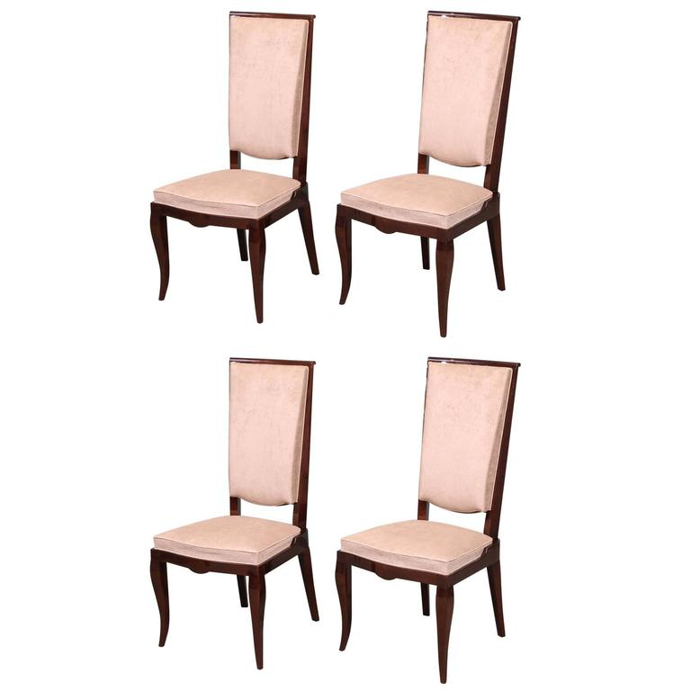 Set of 4 french art deco dining room chairs for sale at for French dining room furniture