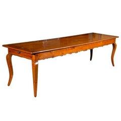 19th Century Fruitwood Long Farm Table