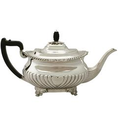 Sterling Silver Teapot, Antique Victorian