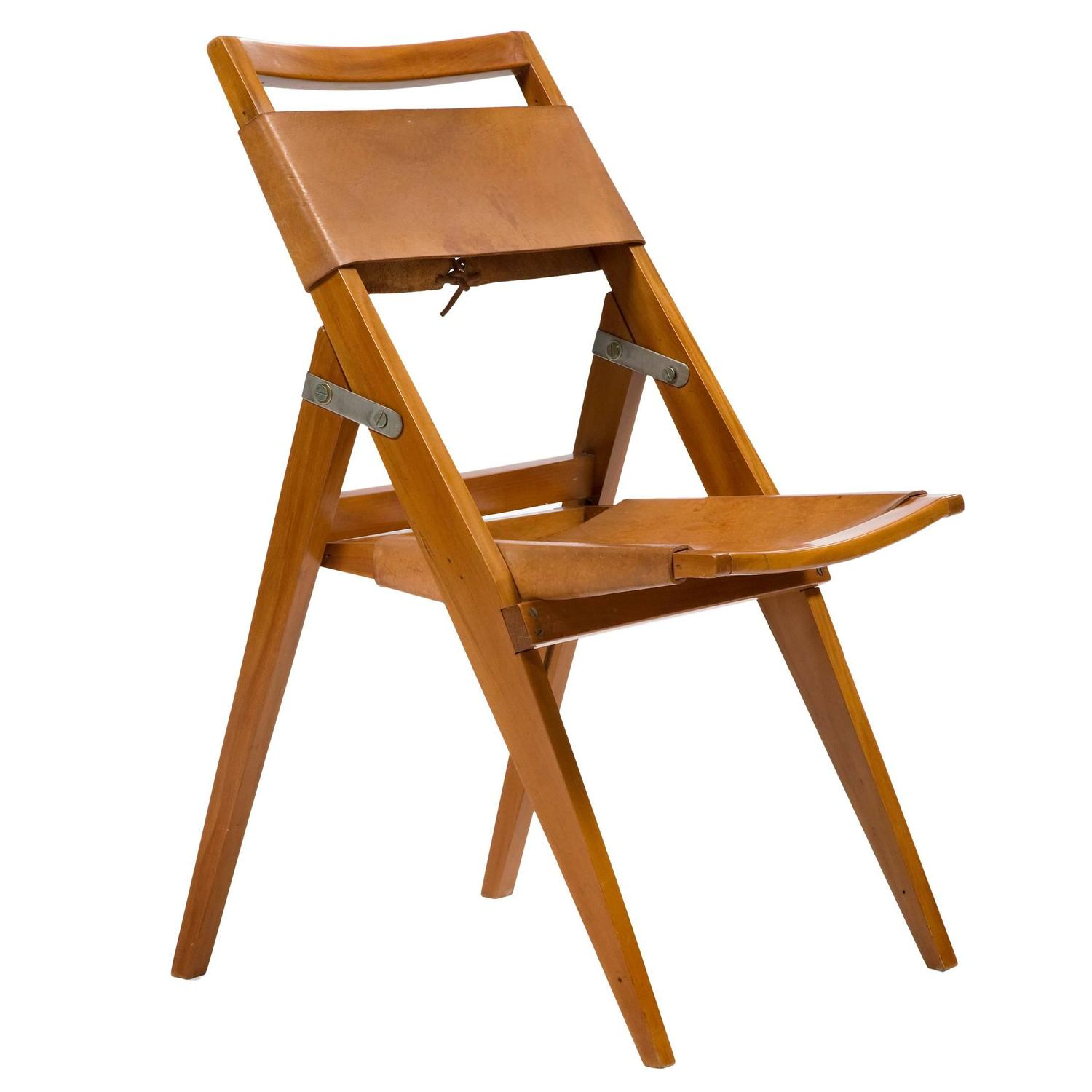 Leather Folding Chairs 62 For Sale on 1stdibs