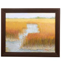 """the Marshes of Glynn"" Oil Painting by Libby Mathews"