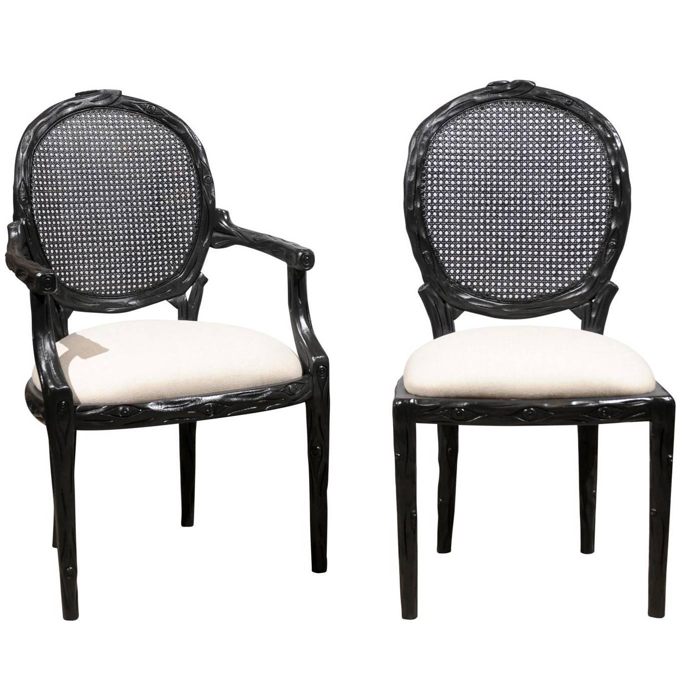 Used Cane Sofa For Sale In Bangalore: Set Of Six Cane Back Chairs For Sale At 1stdibs