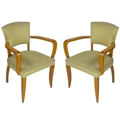 Pair of French, 1940s Bridge Chairs