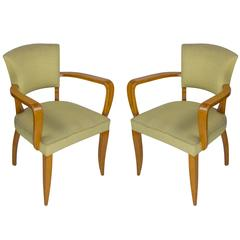 Pair of French, 1940s Bridge Chairs