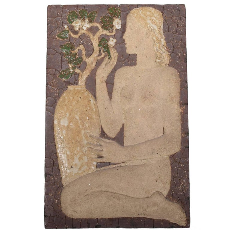 Early Wall Relief by Michael Schilkin for Arabia, 1938 For Sale