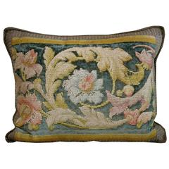 Antique English Needle Work Pillow
