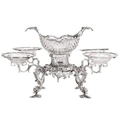 Georgian, Sterling Silver Epergne, Thomas Pitts, 1760