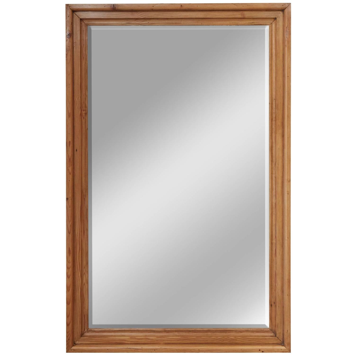 Large english pine frame with mirror for sale at 1stdibs for Large framed mirrors for sale
