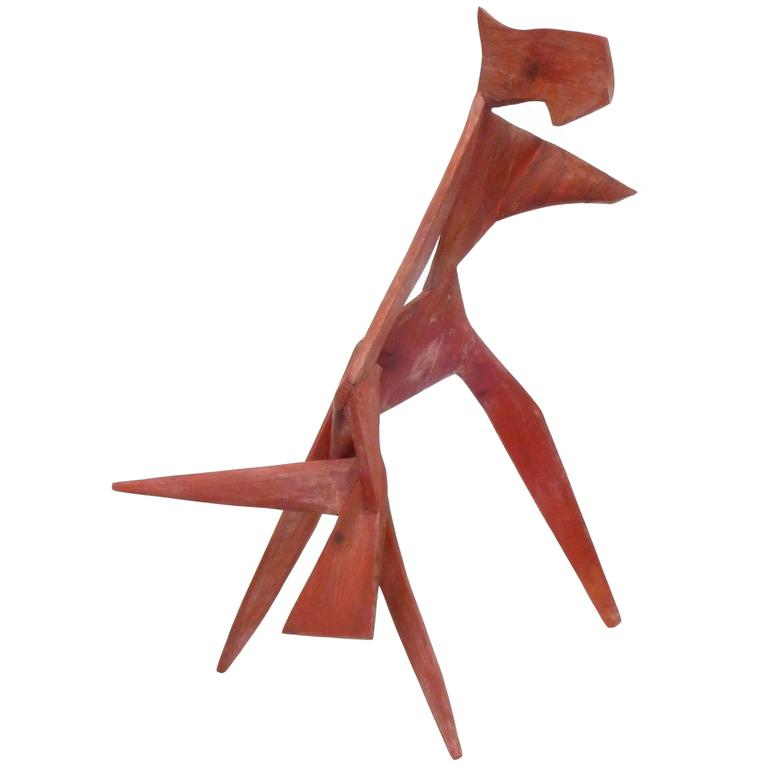 Modernist Abstract Wood Sculpture For Sale At 1stdibs