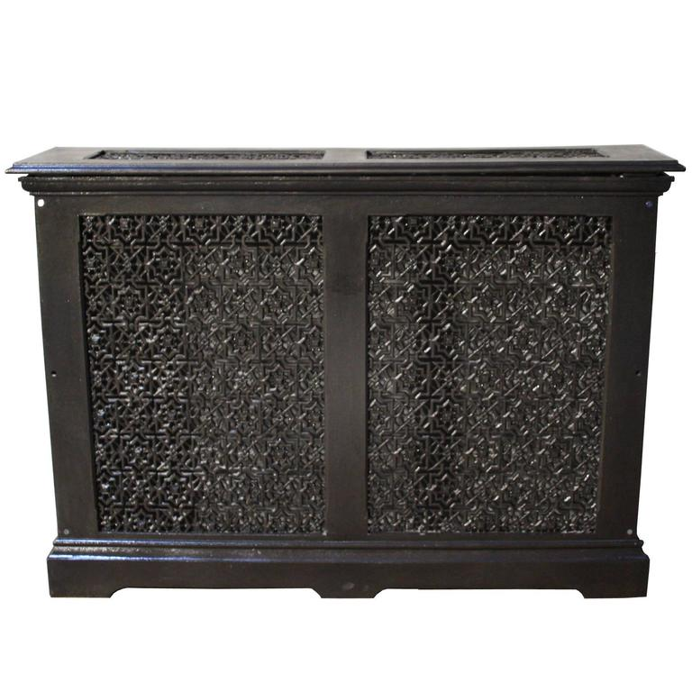 Ornate antique cast iron radiator cover for sale at 1stdibs - Cast iron radiator covers ...