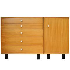 Dresser and Cabinet in Primavera Mahogany by George Nelson for Herman Miller