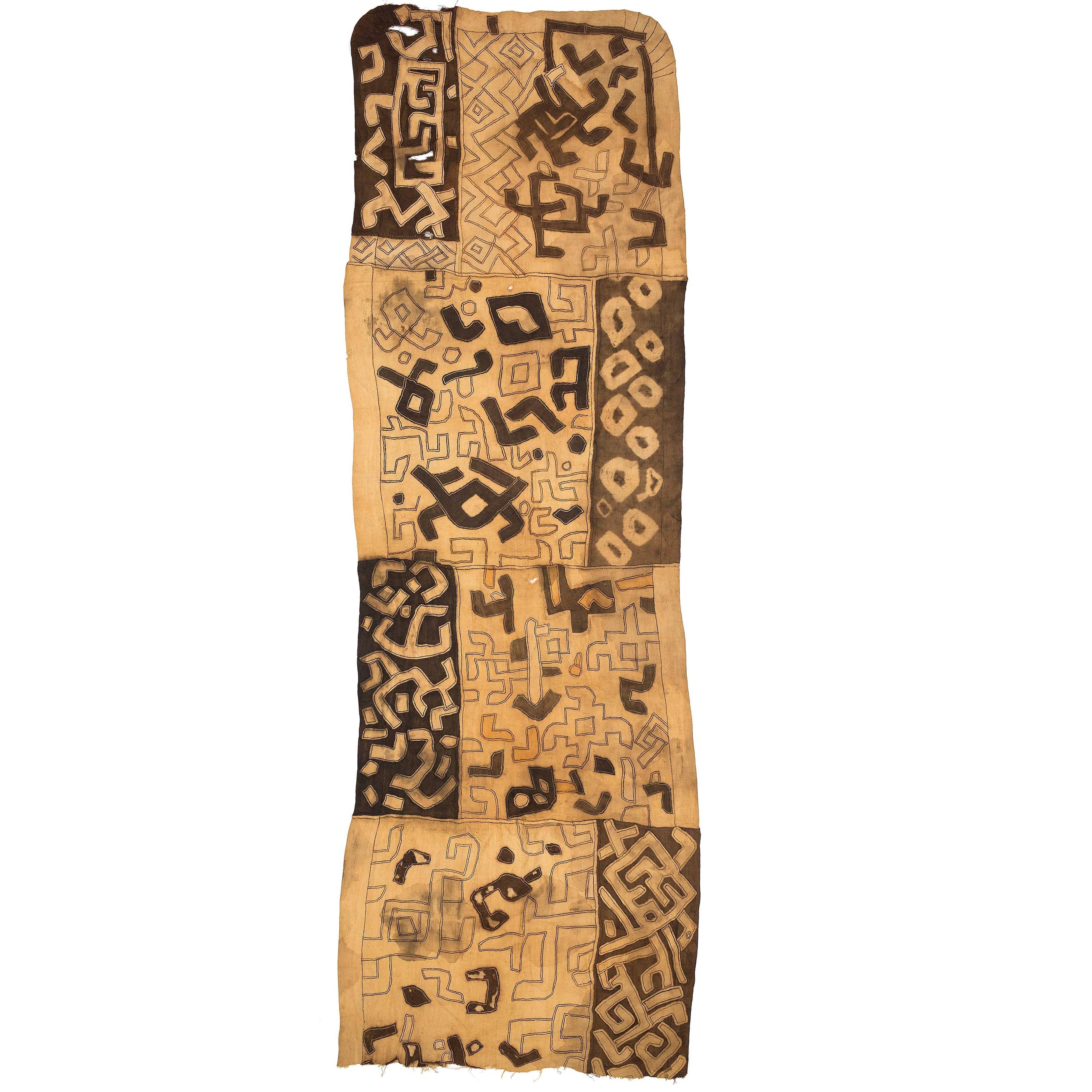 African Tribal Kuba Dance Cloth From Congo
