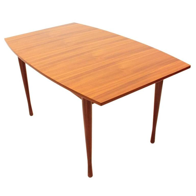 Italian teak extensible table 1960s at 1stdibs for Petite table extensible
