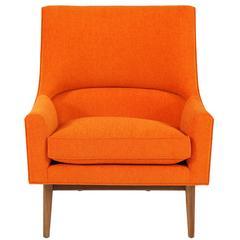 Cedrick Walnut Base Lounge Chair