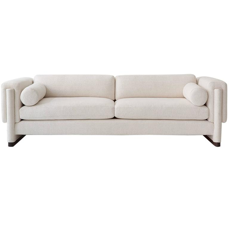 Howard Sofa, Upholstered Down And Solid Wood For Sale