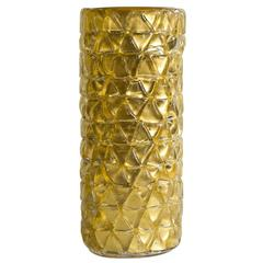 Rombi Gold Murano Glass Vase