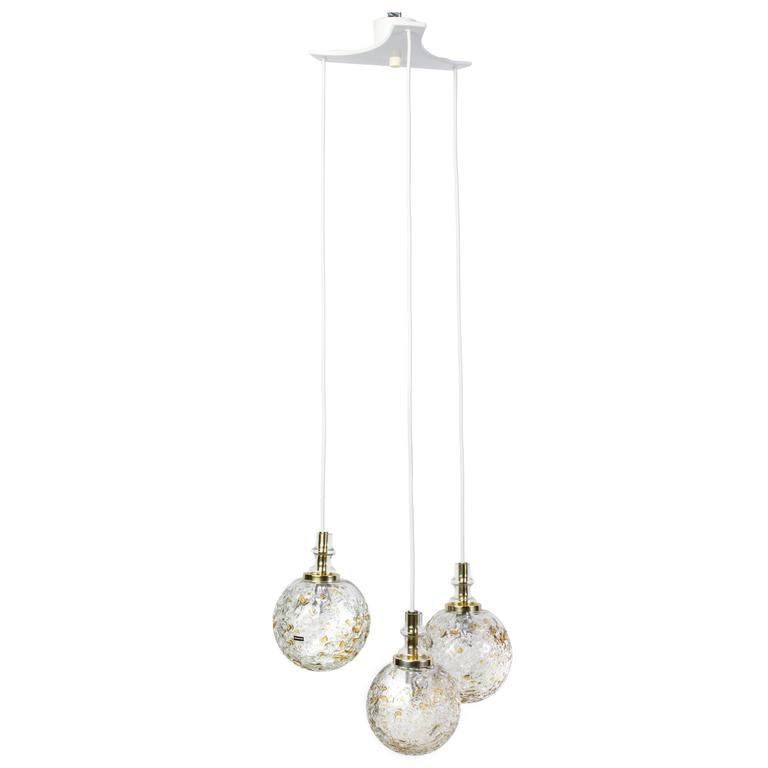 Exquisite 1960s Mid-Century Modernist Pendant Chandelier by Doria