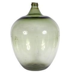 Oversized 16th-18th Century European Green Glass Demi John