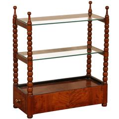 19th Century Continental Biedermeier Pipe Rack Converted to a Hanging Shelf