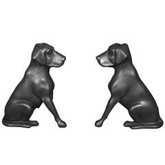 Pair of Cast Iron Fire Dogs by 'Liberty Foy, St Louis'