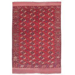 Late 19th Century Madder Red Tekke Carpet
