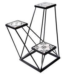 Trio Black and White Ensemble Pedestal
