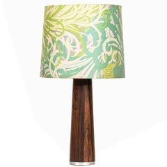 Table Lamp in Rosewood with Floral Lampshade