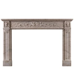 19th Century French Marble Fireplace