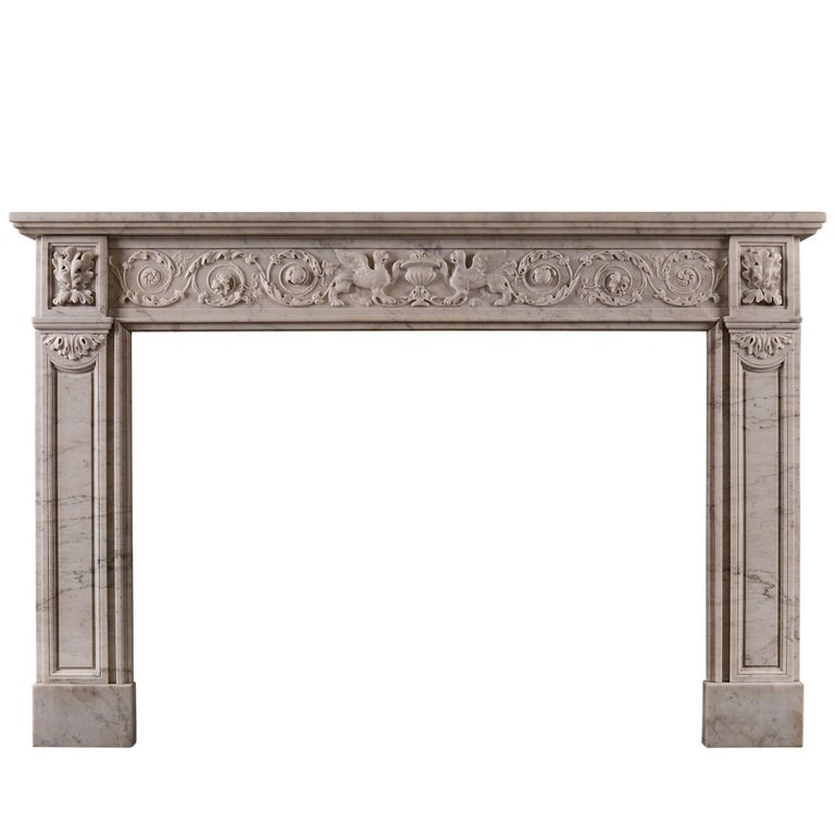 19th Century French Marble Fireplace For Sale