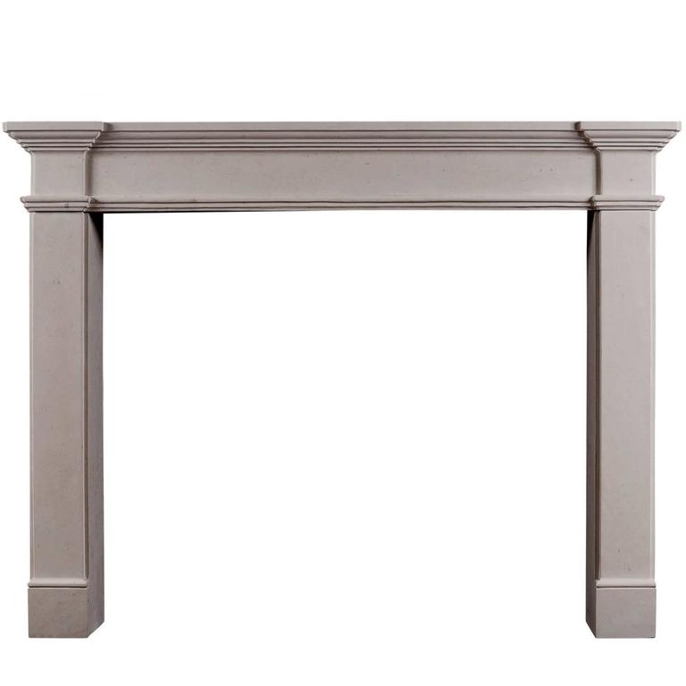Architectural French Limestone Fireplace