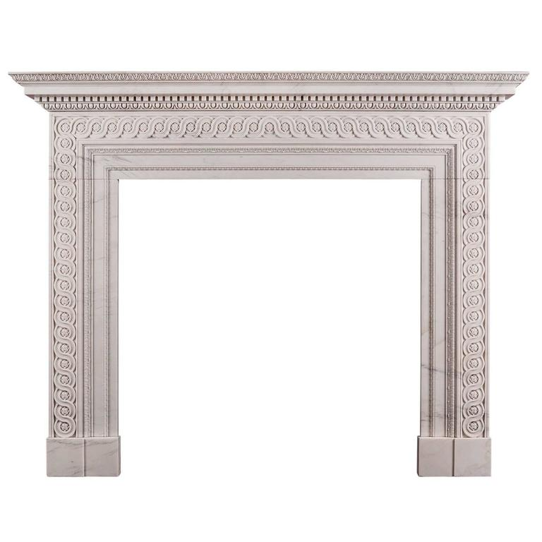 Georgian Marble Fireplace in the Manner of James Adam