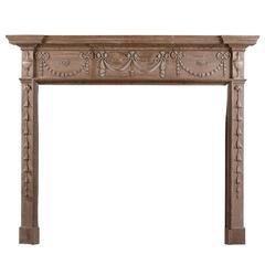 Carved Pine Fireplace in the Georgian Style
