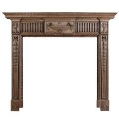 English Wood Fireplace in the Georgian Style