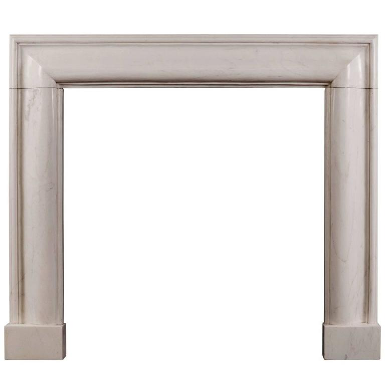 White Marble Bolection Fireplace