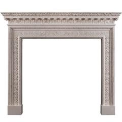 White Marble Fireplace in the Mid-Georgian Style