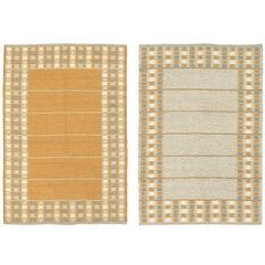 Mid-20th Century Double Sided Swedish Flat Weave Carpet