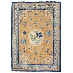Late 19th Century Chinese Peking Traditional Style Carpet