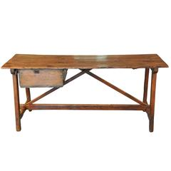 Spanish 19th Century Work Table Console