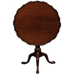 Tilt-Top Mahogany Piecrust Table, England, circa 1760