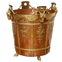 Neoclassical Style Gilt Brass and Copper Cachepot