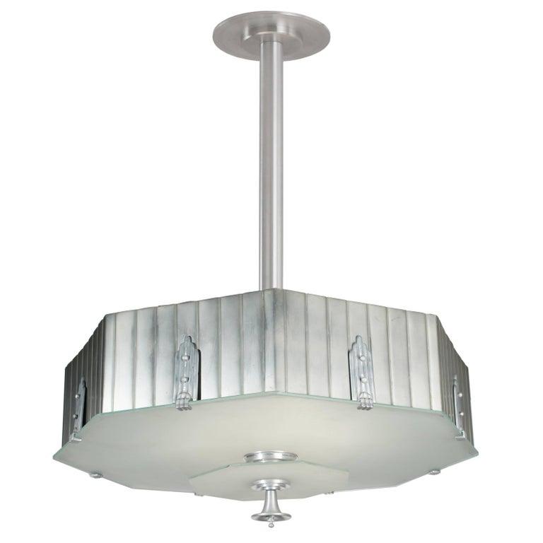 Art Deco Octagon Chandelier