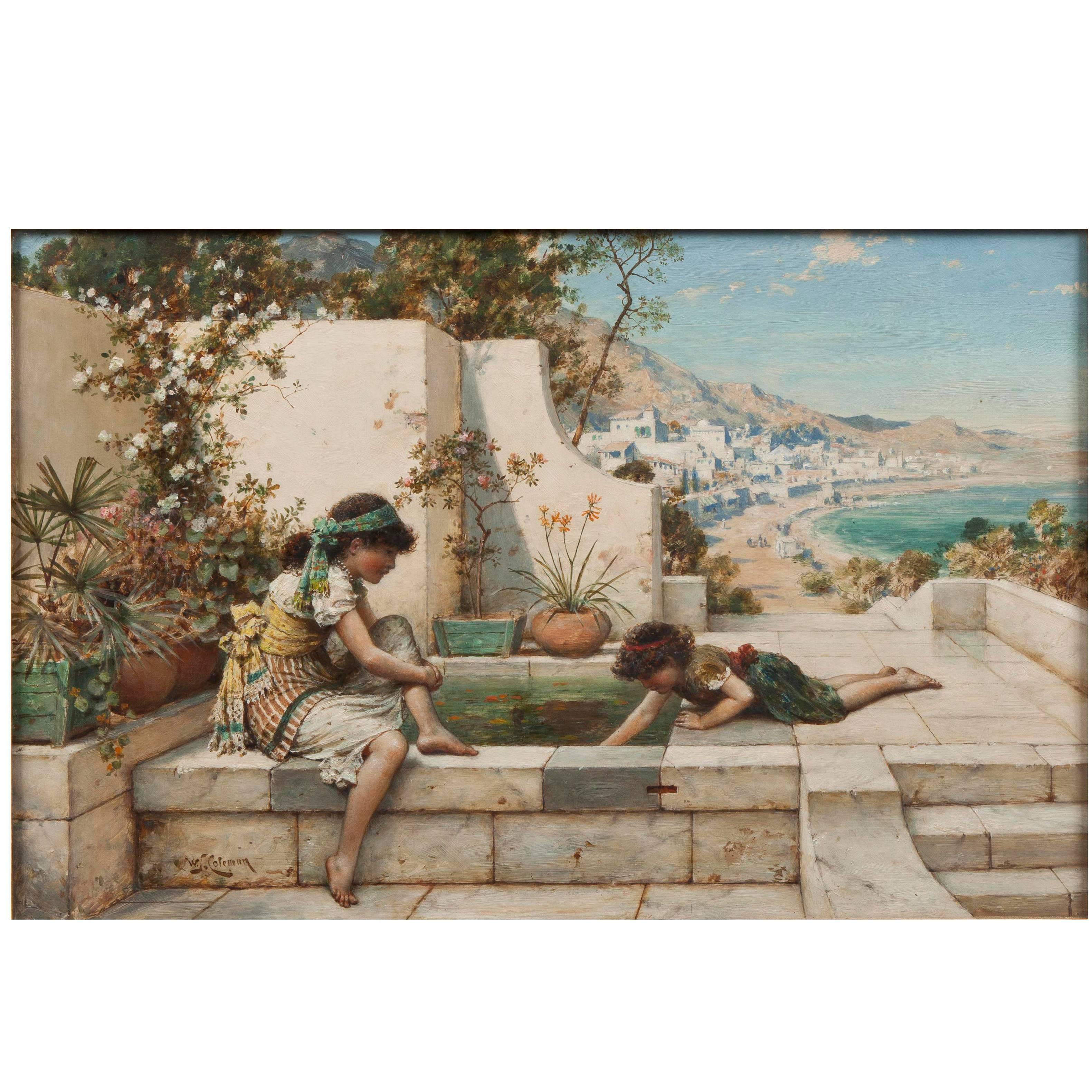 19th Century Painting 'Summer Reflections' by William Stephen Coleman