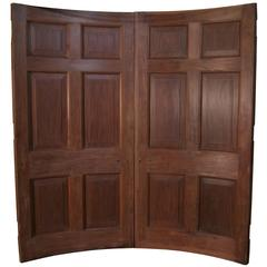 Pair of Superb Quality Curved Antique Mahogany Doors
