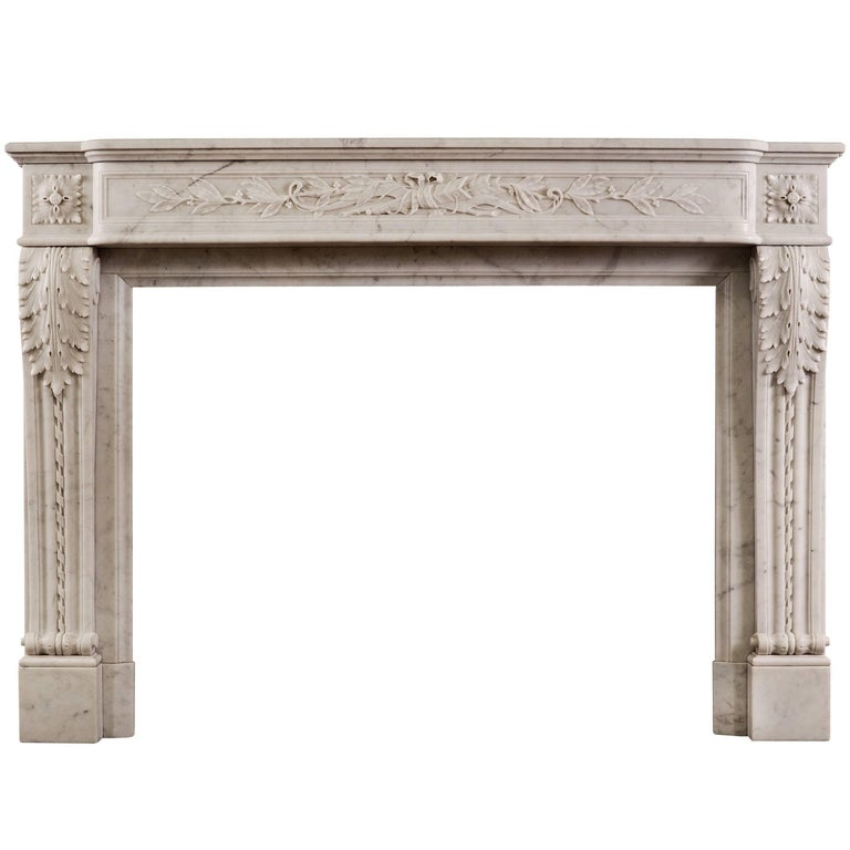19th Century French Louis XVI Style Fireplace For Sale