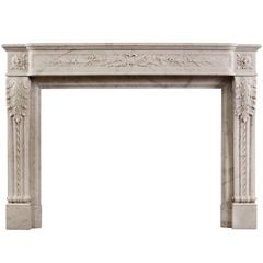 19th Century French Louis XVI Style Fireplace
